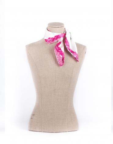 Foulard monogrammé rose