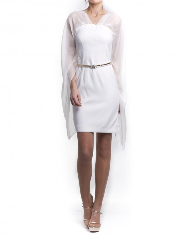 Robe courte blanche