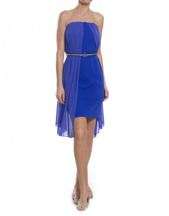 Robe courte bleue