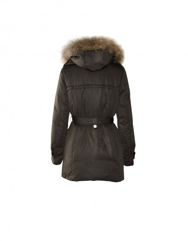 Brown coat removable lining