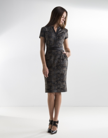 Gray checked dress