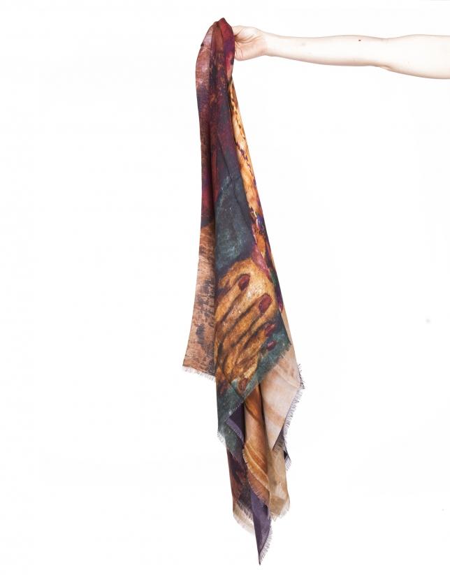 Fabrics print scarf