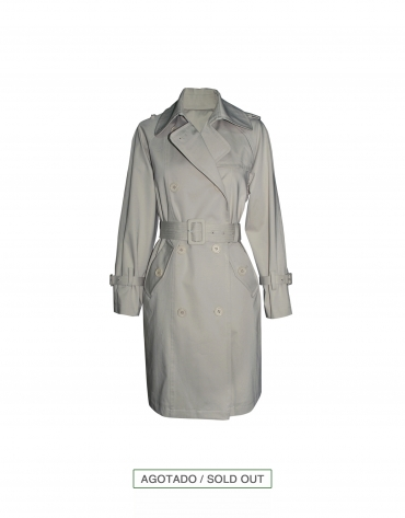 Light grey trenchcoat
