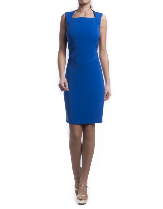 Open neckline dress