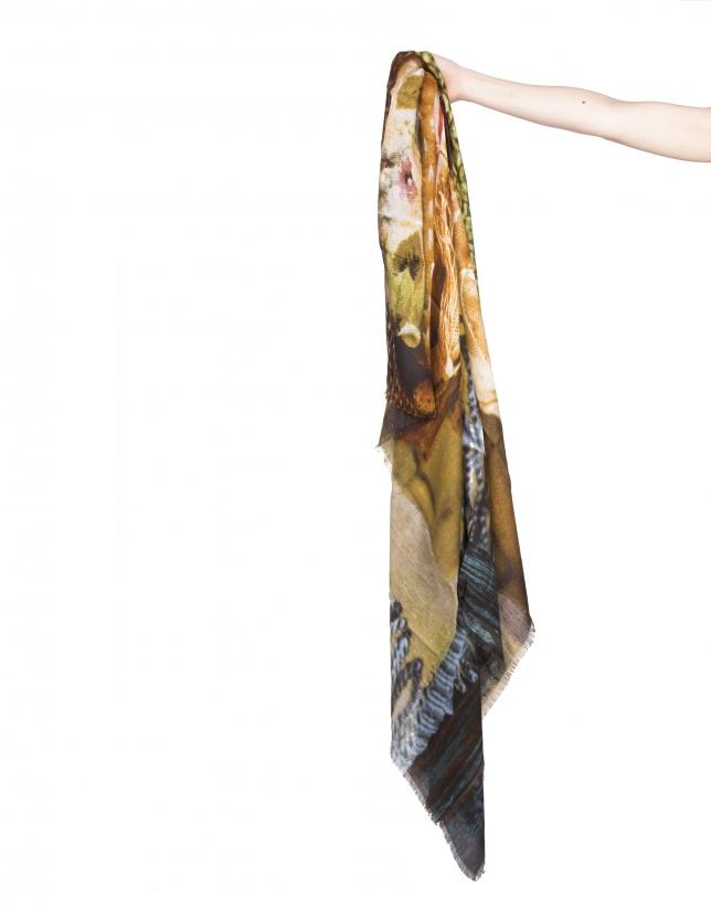 Woman canvas print scarf