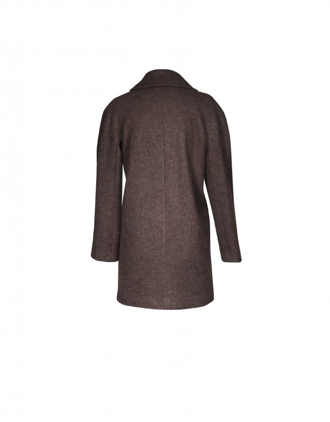 Taupe wool coat