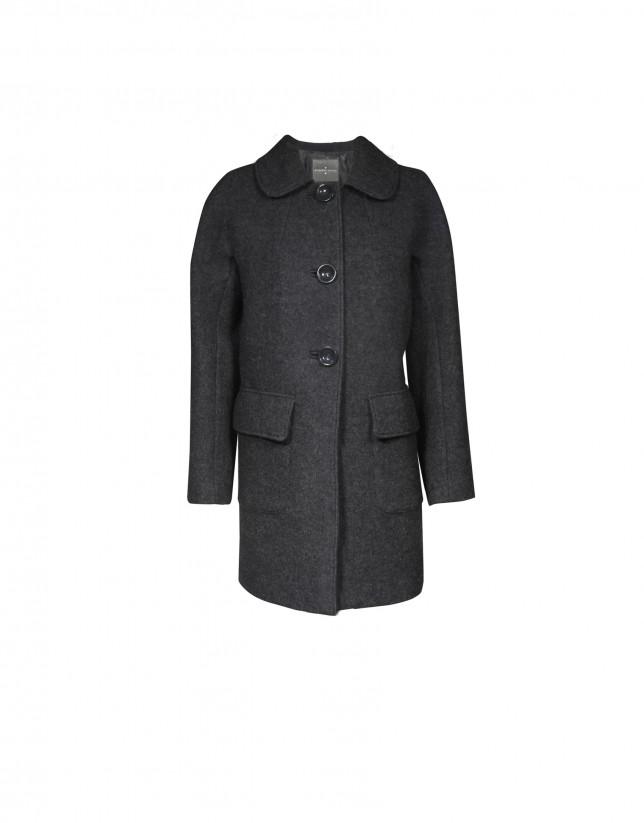 Abrigo corto gris