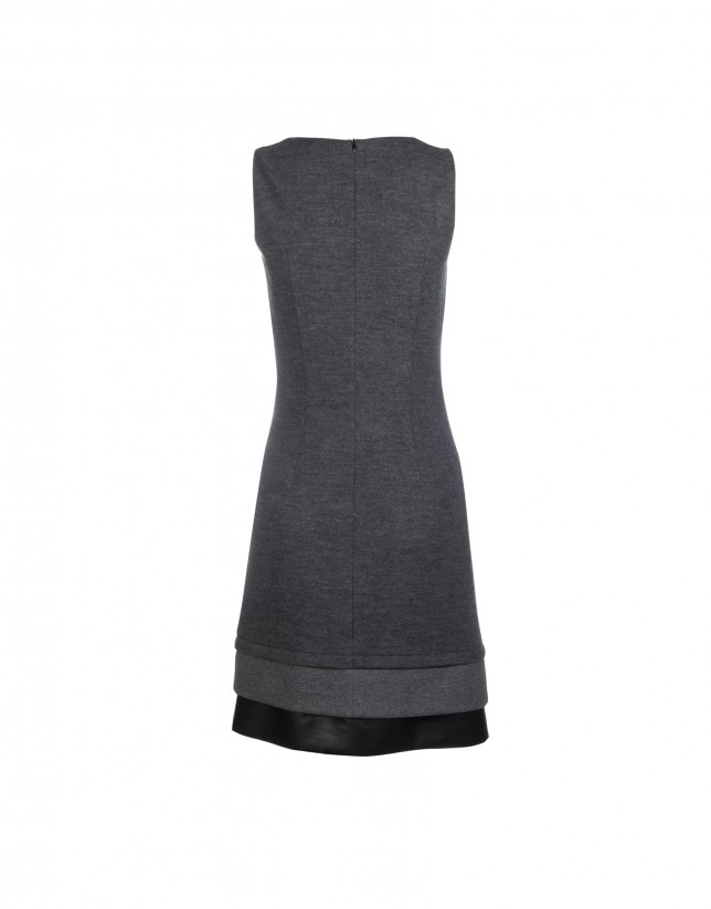 Grey sleeveless dress