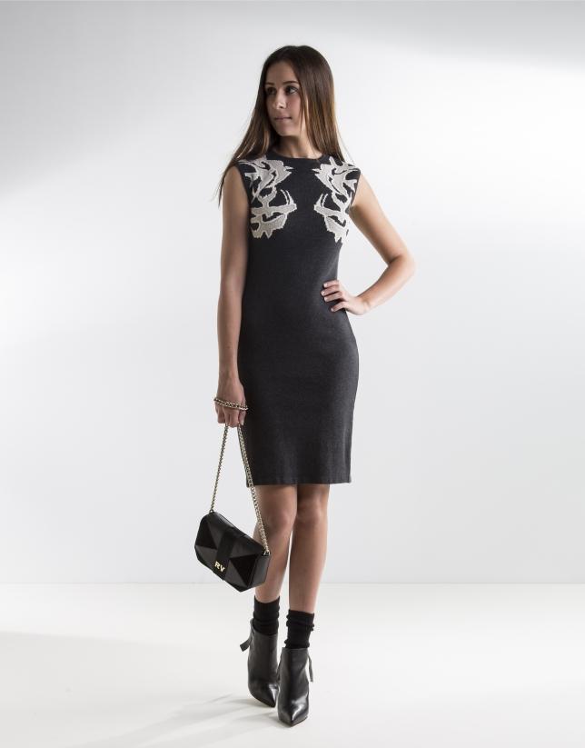 Grey cotton dress