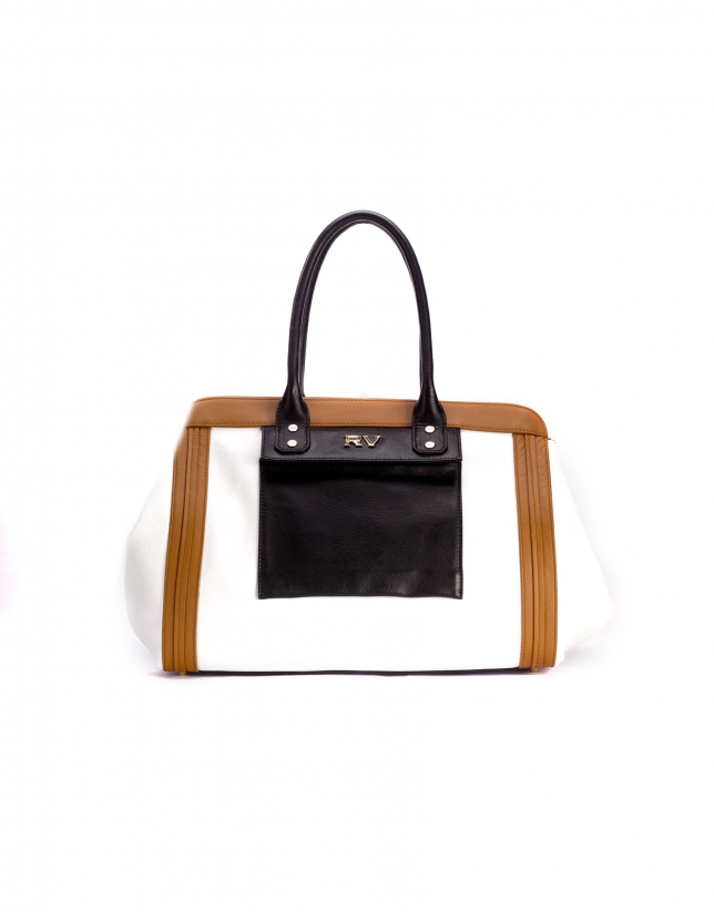 LORD: Tricolor leather satchel