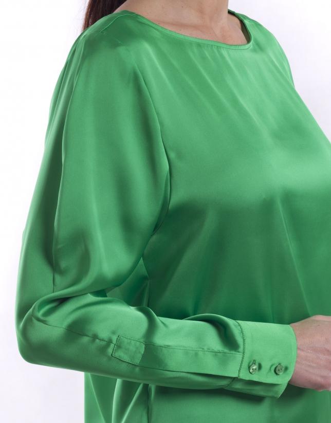 Camisa manga larga cuello barco