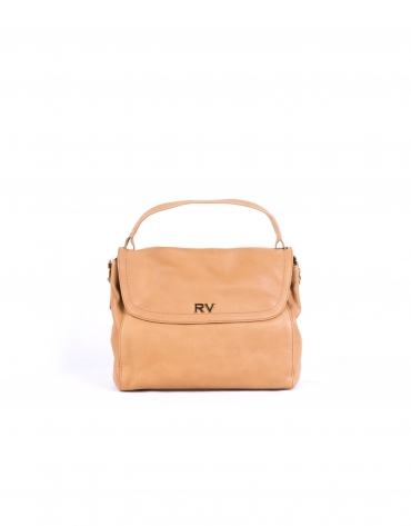 VIVIAN CAMEL: Hobo bag with flap