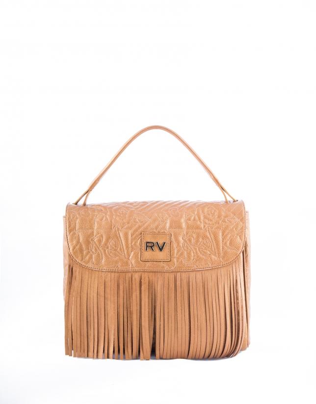 Bolso Hobo Vivian VIP piel bronce bordado RV