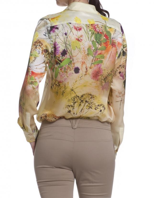Long sleeve silk shirt