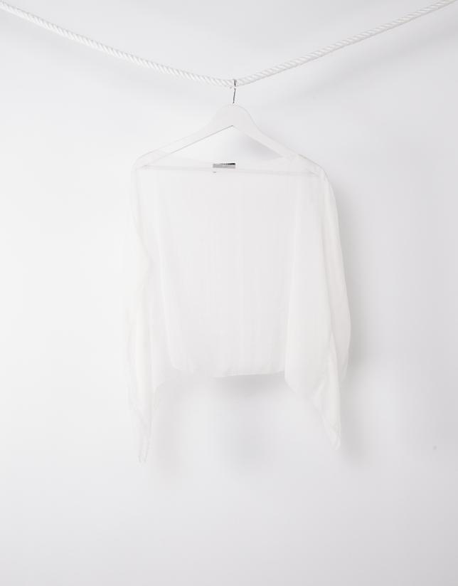 Plain beige shawl