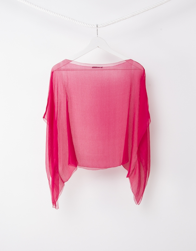Plain pink shawl