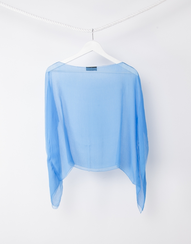 Plain blue shawl