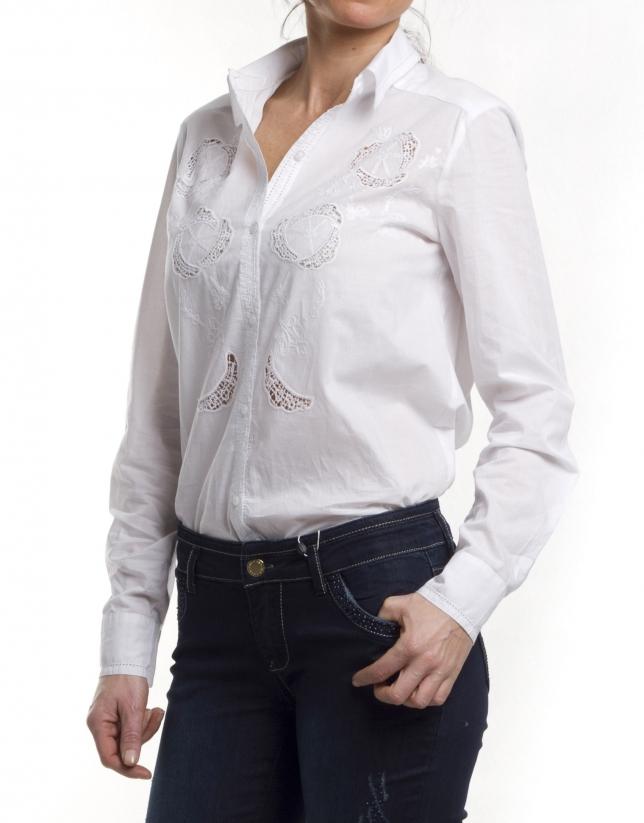 Camisa algodón  bordado