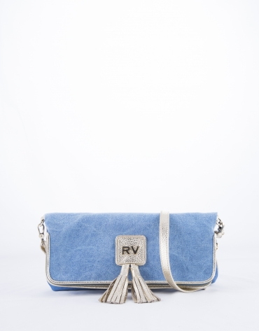 Blue  Martina Capri clutch bag