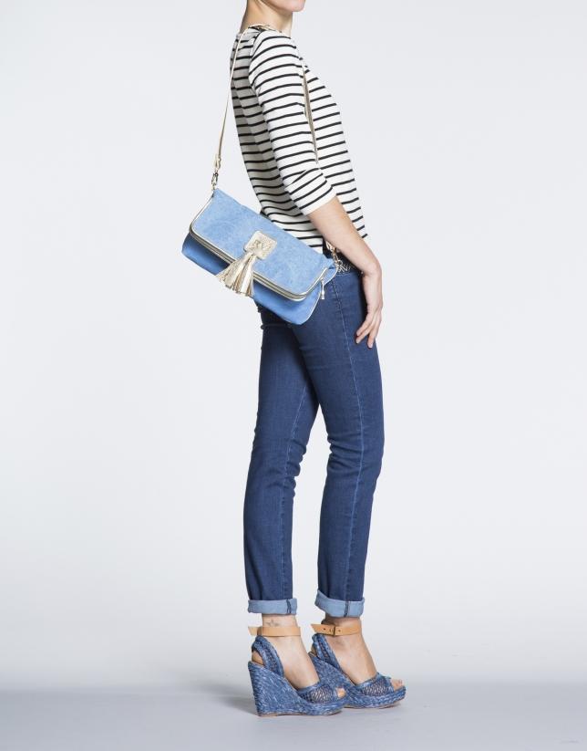 Bolso Clutch Martina Capri azul