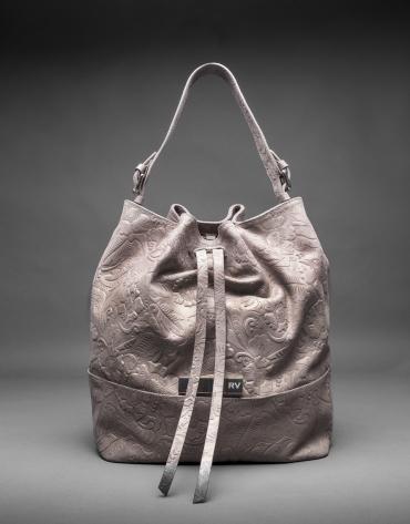 Metallic, brocade and leather Adam bag