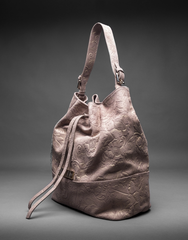 Metallic, brocade and leather Adam bag