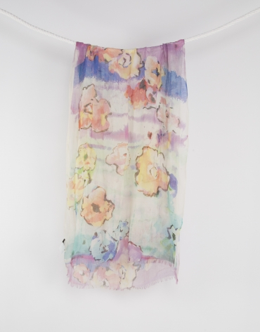 Pink print scarf
