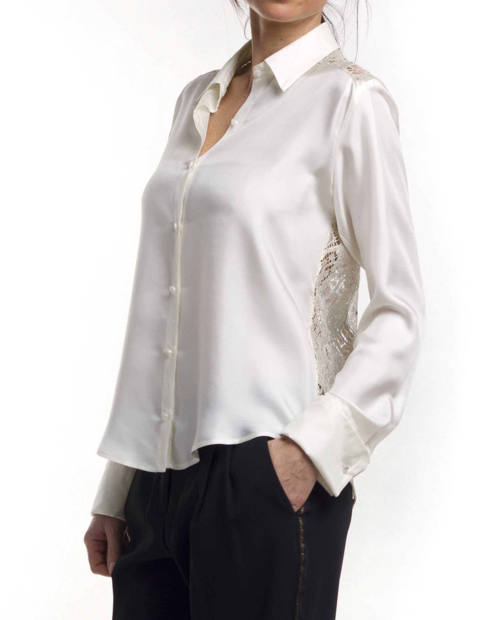 Long sleeve silk shirt roberto verino for Silk long sleeve shirt