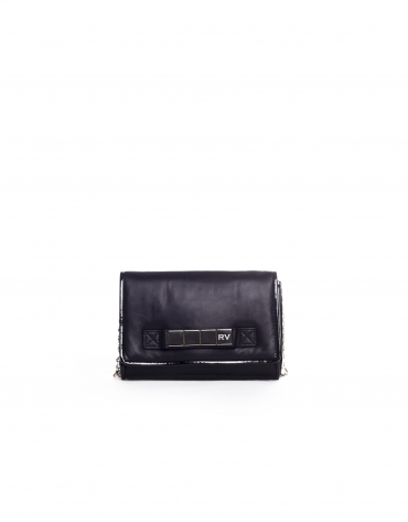 TAYLOR: Raw napa leather clutch bag