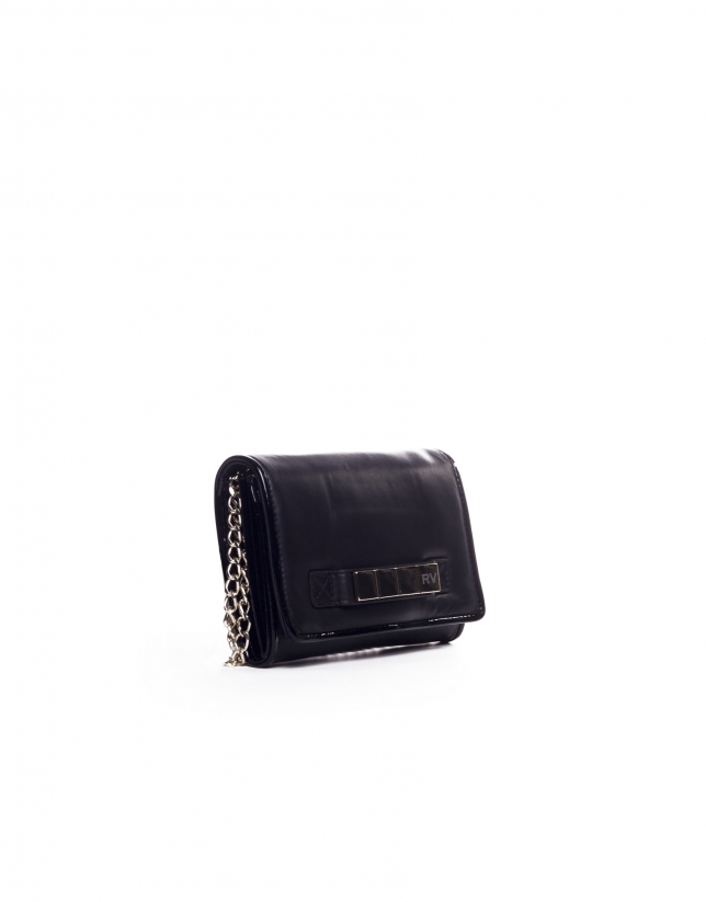TAYLOR: Raw napa leather clutch bag