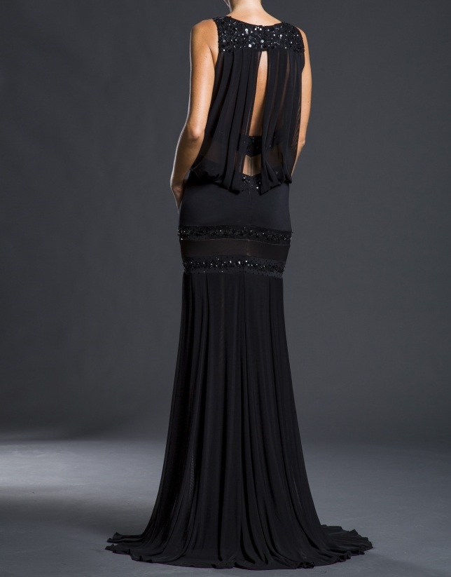 Black dress with beading