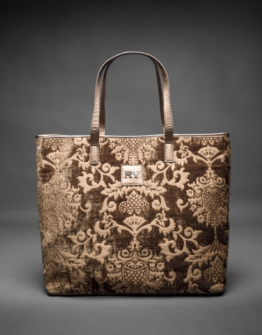 Bolso Africa Tap en tejido jaquard barroco bronce