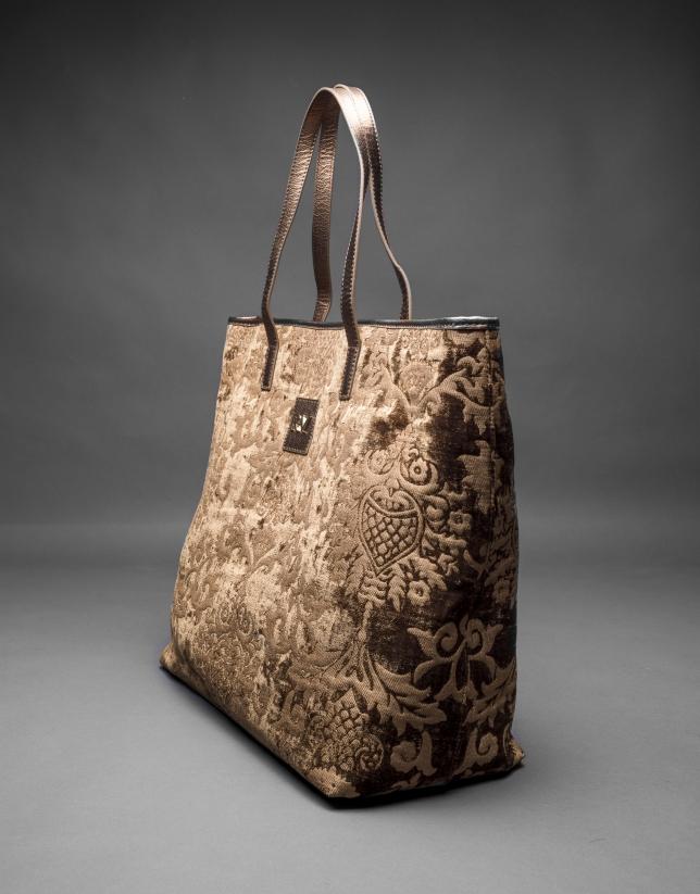 Bronze Africa Tap baroque brocade and jacquard bag