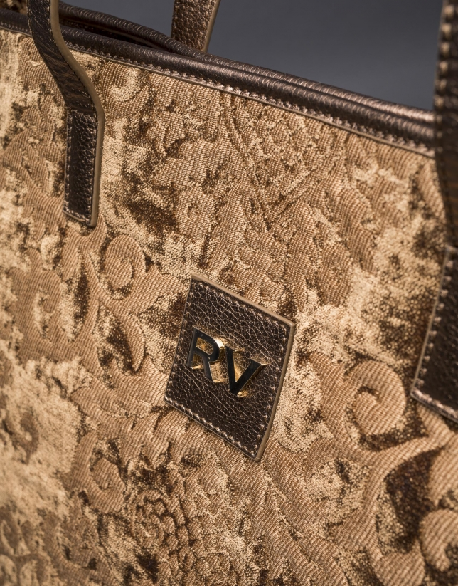 Bronze Africa Tap baroque brocade and jacquard bag