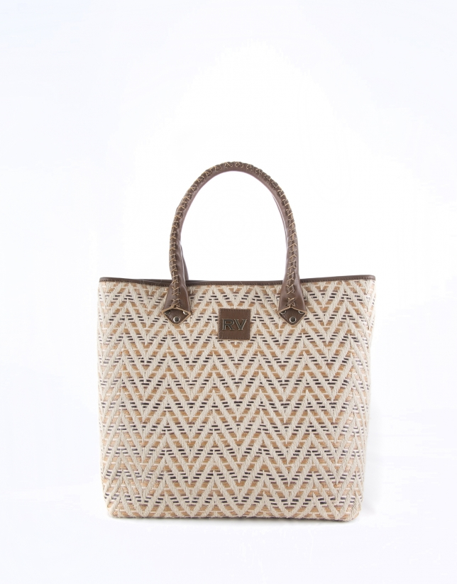 Brown Africa Boho shopping bag