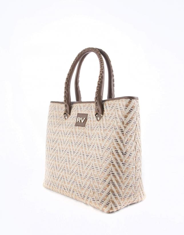 Brown Africa Boho shopping bag