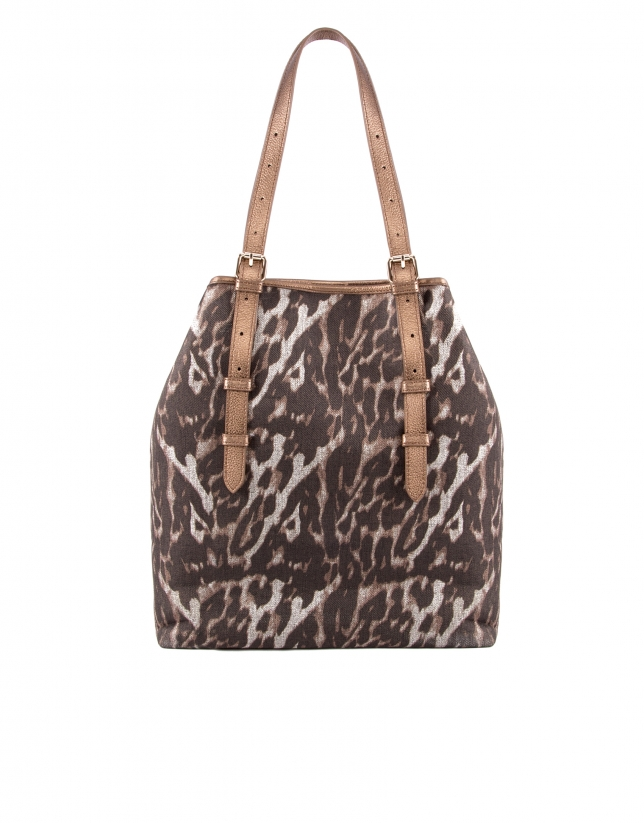 Paulina Leopard animal print fabric.