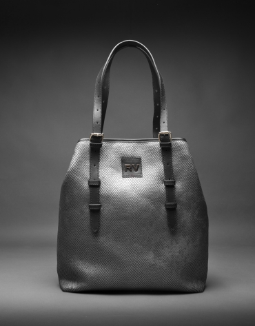 Old silver and mother of pearl Paulina Nacar fabric bag