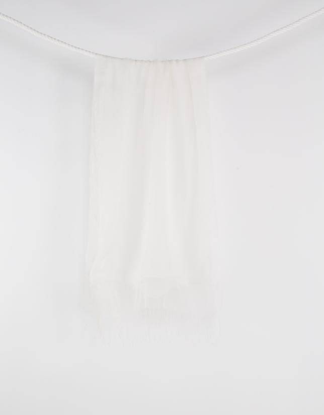 Foulard flecos blanco
