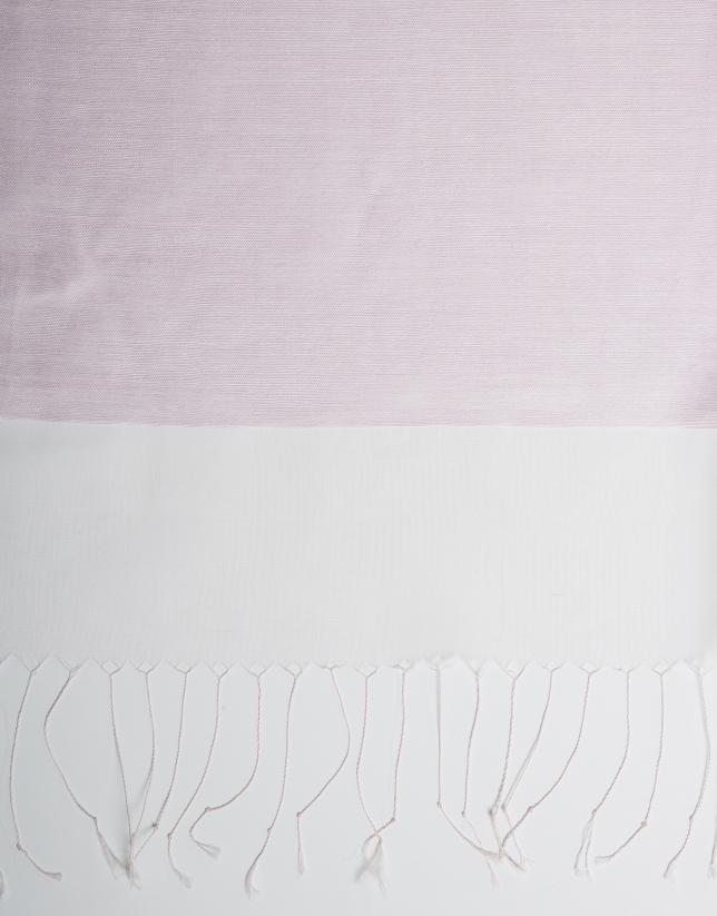 Foulard flecos rosa