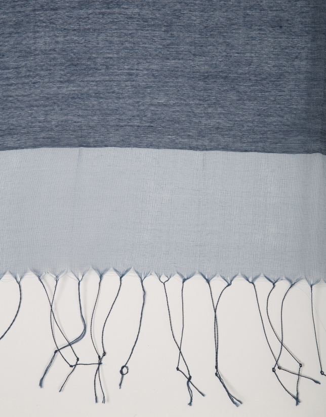 Foulard flecos azul