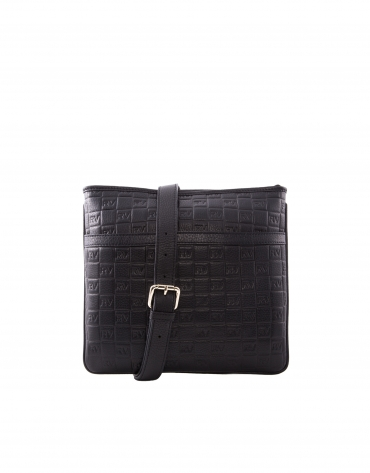 Black leather Lara shoulder bag