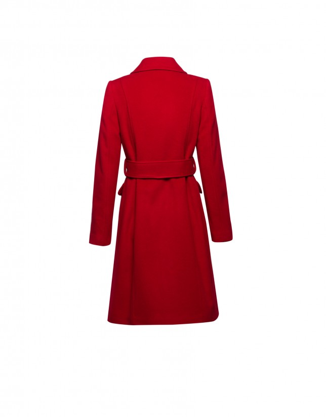 Red cloth coat