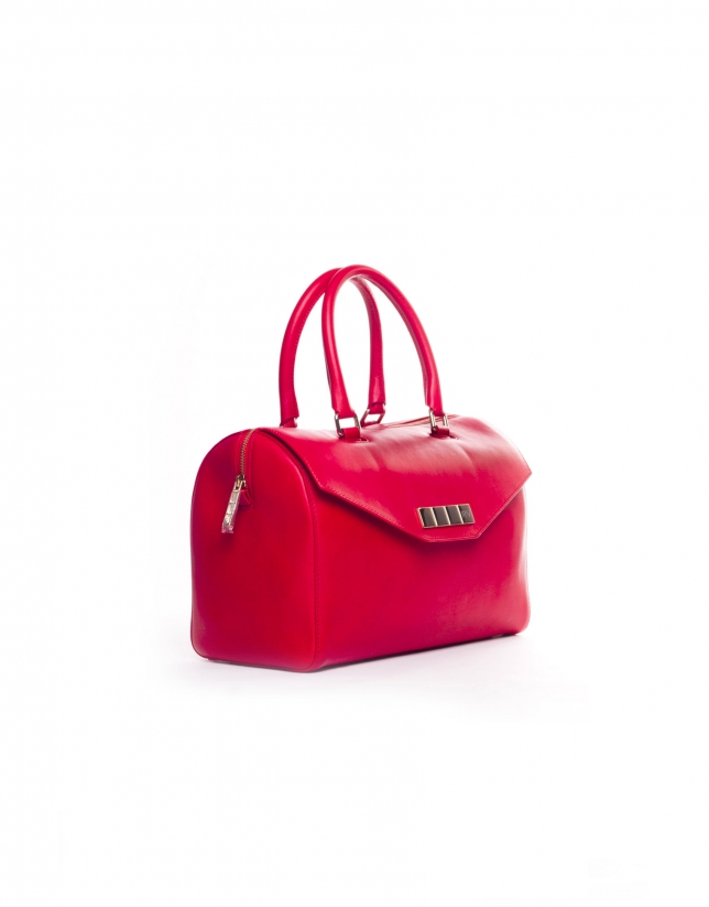 CARMEN ROUGE Bowling cuir nappa