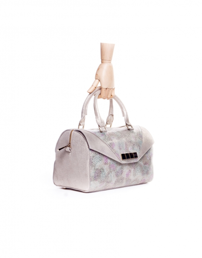 CARMEN STYLISH:  Multi-colored stIngray fantasy leather bowling bag