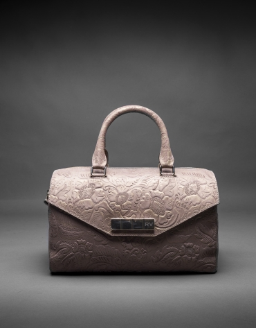 Brocade, leather and metallic Carmen Barroco bag