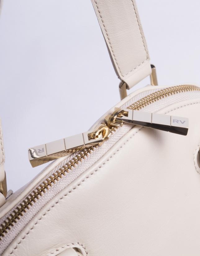 LEONOR CREMA:  Napa satchel