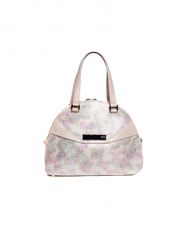 LEONOR STYLISH:  Multi-colored stingray fantasy leather satchel