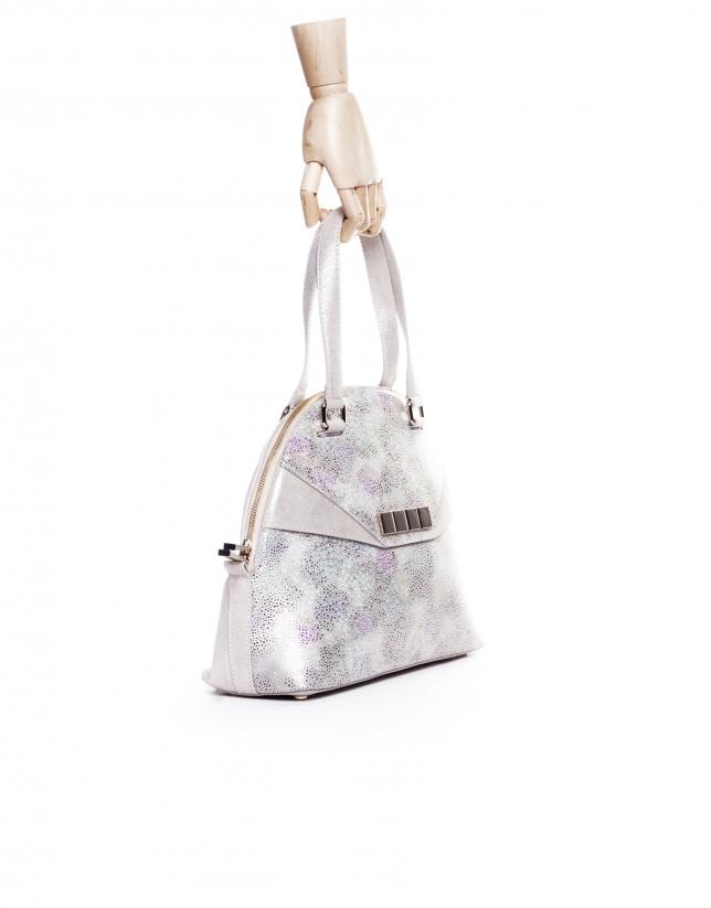 LEONOR STYLISH:  Multi-colored stingray fantasy leather satchel