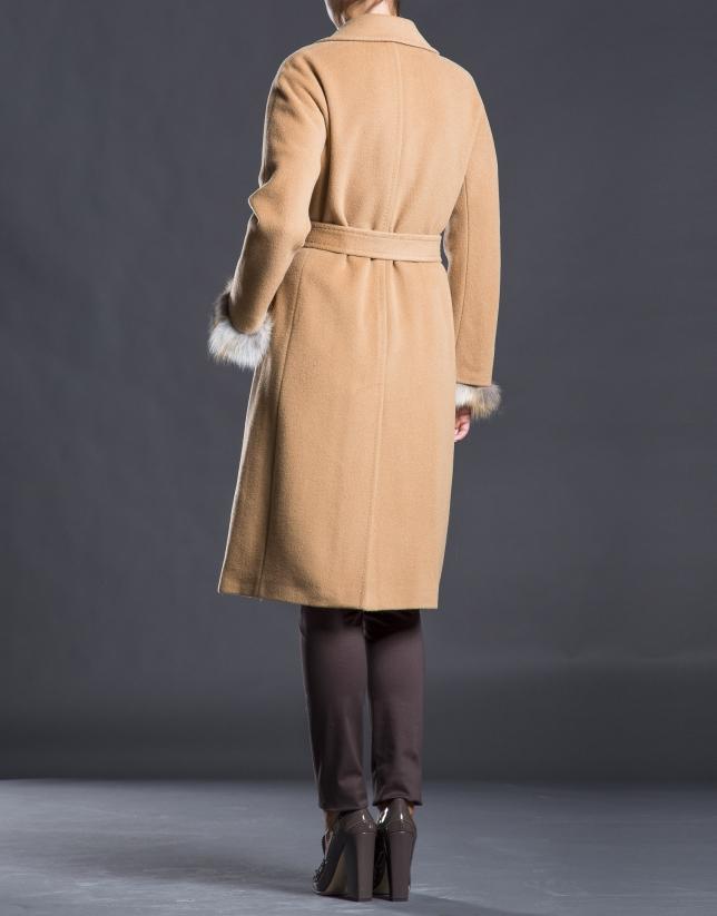 Abrigo lana pelo zorro